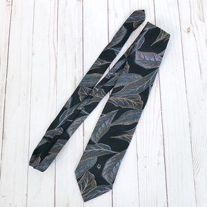 Vintage Christian Dior Monsieur Black Pint Tie